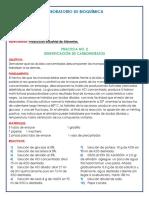 IDENTIFICACIÓN DE LOS CARBOHIDRATOS