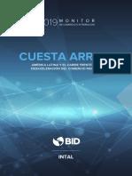 Monitor de Comercio e Integración 2019 Cuesta Arriba América Latina y El Caribe Frente a La Desaceleración Del Comercio Mundial Es