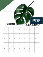 CALENDARIO 2020 - Folhas