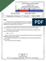 Examen Et Corrige Francais 2ASL 2014 T1