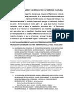 PROPUESTAS PARA PROTEGER NUESTRO PATRIMONIO CULTURAL.docx