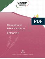 Guía Para El Asesor Externo, Estancia II