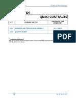 10. Quasi Contracts