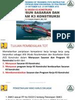 Menyusun Sasaran Dan Program k3 Konstruksi