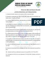 Guia de Ejercicios Sobre Estequiometría y Disoluciones