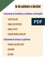 Instrumente de Sintetizare a Informatiilor