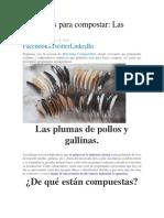 COMO HACER COMPOSTA DE PLUMAS DE POLLOSMateriales Para Compostar