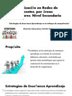 Socialización en Redes de docentes, por áreas.odp