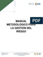 Manual Metodológico Para La Gestión Del Riesgo