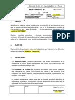 PRC-SST-014 Procedimiento Para La Identificación de Peligros, Valoración de Riesgos