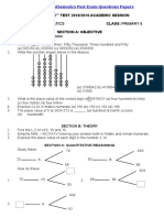 Primary Six Mathematics Past Exam Questions Papers