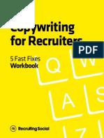Copywriting for recruiters