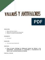 05 Valores y Antivalores