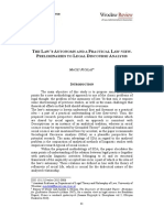 [20841264 - Wroclaw Review of Law, Administration &Amp; Economics] the Law's Autonomy and a Practical Law-View