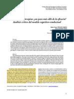 Froxan, Alonso, Trujillo y Estal (2018) - Eficiencia de Las Terapias Un Paso Mas Alla de La Eficacia