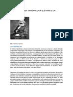 Marx y la promesa moderna :¿por qué Marx es un reaccionario?