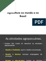 Agricultura No Mundo e No Brasil