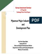 3. 미얀마 주요 산업공단 및 개발계획(자료원 미얀마 건설부)
