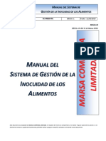 MANUAL DEL SSITEMA DE GESTION DE INOCUIDAD DE LOS ALIMENTOS