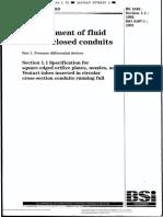 BS 1042 sección 1.1. Measurement of fluid flow in closed conduits