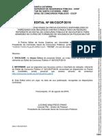 Edital n 086cgcp2019 Divulga Classificacao Final Geral e Resultado Dos Pareceres Contra a Nota de Redacao 599