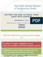 GPPSS Financial Series_2010 Audit Report Summary