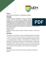 Selección Del Personal y Desempeño Laboral (articulo cientifico)