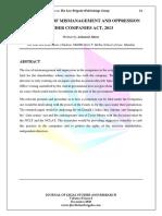 Ashutosh-Misra Analysis Report Oppression and Mismanagement