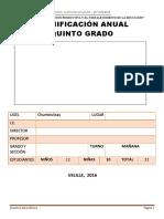 5.-PLANIFICACION ANUAL DE QUINTO GRADO - 2016.docx