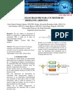 Control PID de  velocidad de un motor DC
