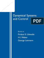 Dynamical Systems and Control