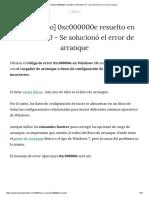 [Funcionado] 0xc000000e Resuelto en Windows 10 - Se Solucionó El Error de Arranque