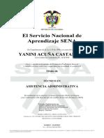 Certificado Sena Tecnico