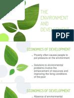 XxxGroup 11 the Environment and Development