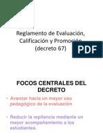 Introduccion Reglamento de Evaluación, Calificación y Promoción (