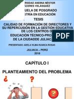 TESIS_CALIDAD DE FORMACIÓN DE DIRECTORES.ppt