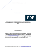 Pliegos de Condiciones Convocatoria Vigilancia Privada 2016-2017