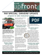Upfront Tube Drivers' News, November 2019