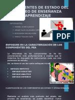 Componentes de Estado Del Proceo de Enseñanza Aprendizaje
