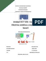 Unidad VII Y VIII– Corriente Eléctrica Estática y Ley de Biot