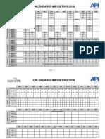A.P.I. - Impresion de Calendario de Vencimientos 2019