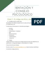 Apuntes - Orientación y Consejo Psicológico