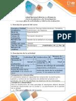 Guía de Actividades y Rúbrica de Evaluación - Paso 3 - Aplicar La Planificación de La Calidad en El Proyecto