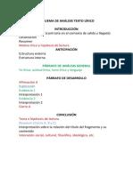 Estructura Breve Del Comentario Literario