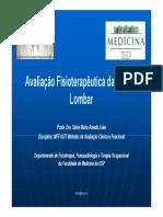 Avaliação Fisioterapêutica Da Coluna Lombar 2013