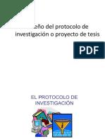 Diseño Del Protocolo de Investigación o Proyecto de Tesis