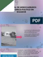 Historial de Hidrocarburos Economico-politico en Ecuador
