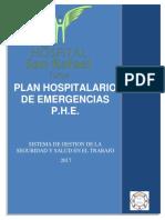 plan hospitalario