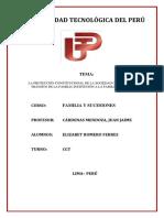 La Protección Constitucional de La Sociedad Conyugal en El Tránsito de La Familia Institución a La Familia Comunidad