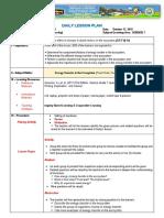SCIENCE 7 DLP for Class Observation 2nd Quarter